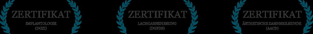 Zertifikate - Zahnarzt Dr. Haske und Kollegen